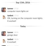 Bonus: Home Slack Bot integration!