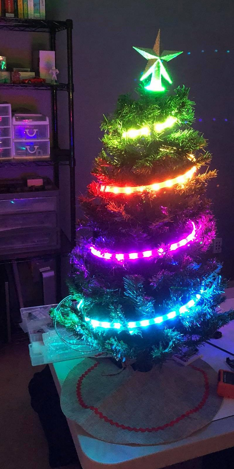 Arduino Christmas Led Lights Tanners Website Neopixel Tree